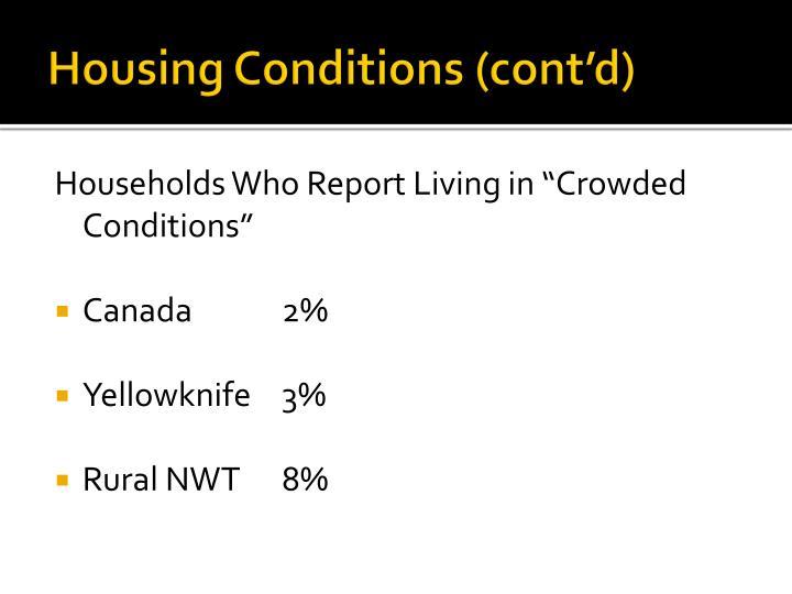 Housing Conditions (cont'd)