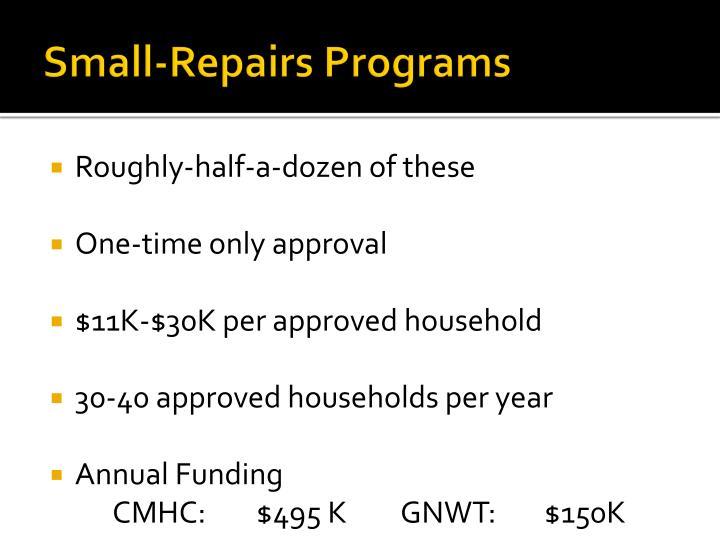 Small-Repairs Programs