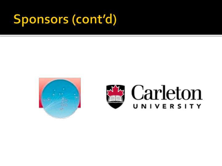 Sponsors (cont'd)