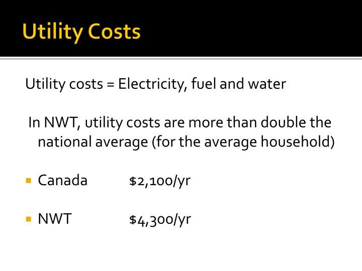 Utility Costs