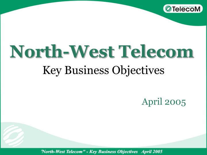 key business objectives n.
