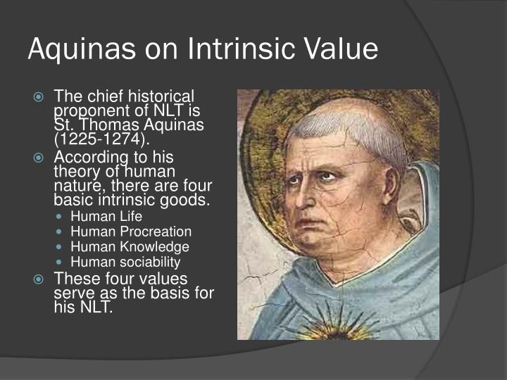 Aquinas on intrinsic value