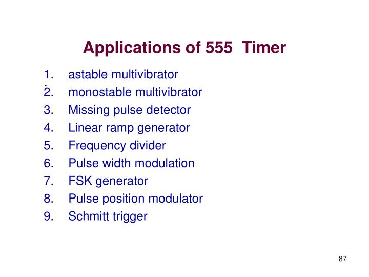 Applications of 555  Timer