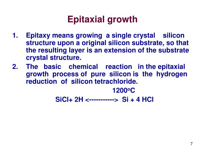 Epitaxial growth