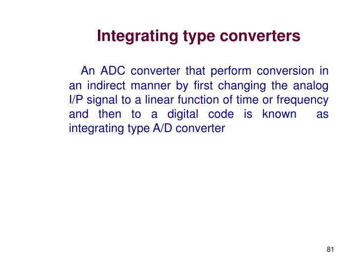 Integrating type converters