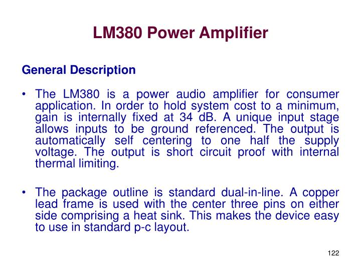 LM380 Power Amplifier