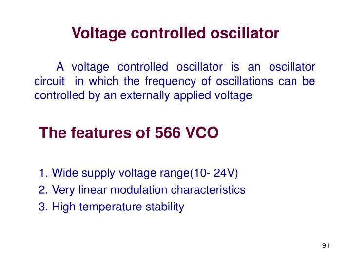 Voltage controlled oscillator
