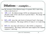 dilations examples