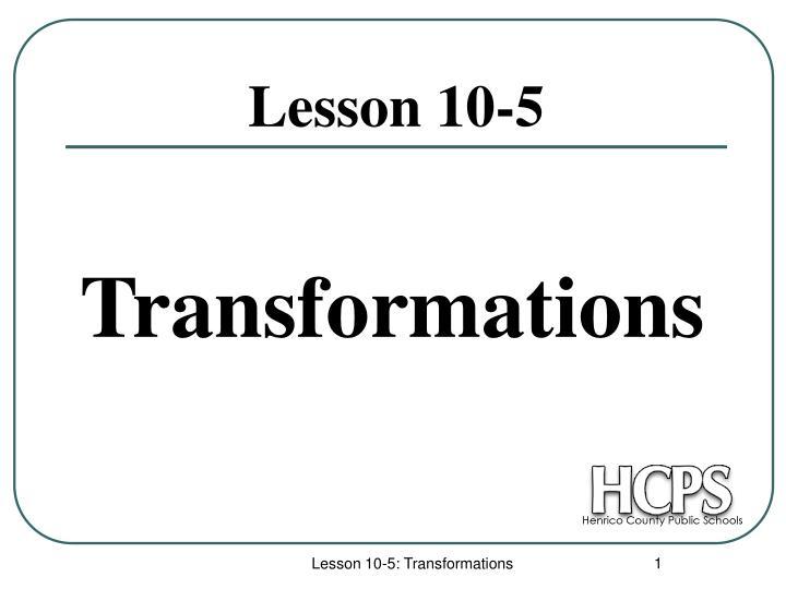 lesson 10 5 n.