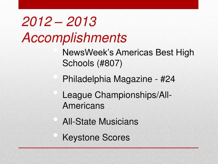 NewsWeek's Americas Best High Schools (#807)