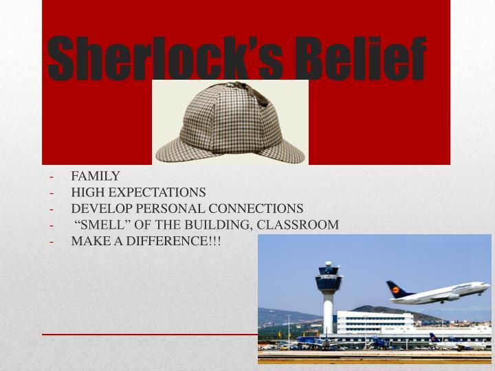 Sherlock s belief