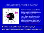 self assembling aurothiol clusters