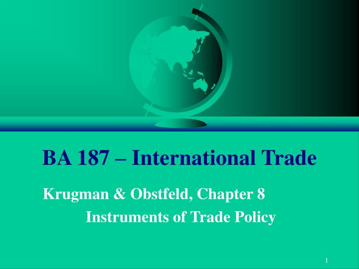 ba 187 international trade n.