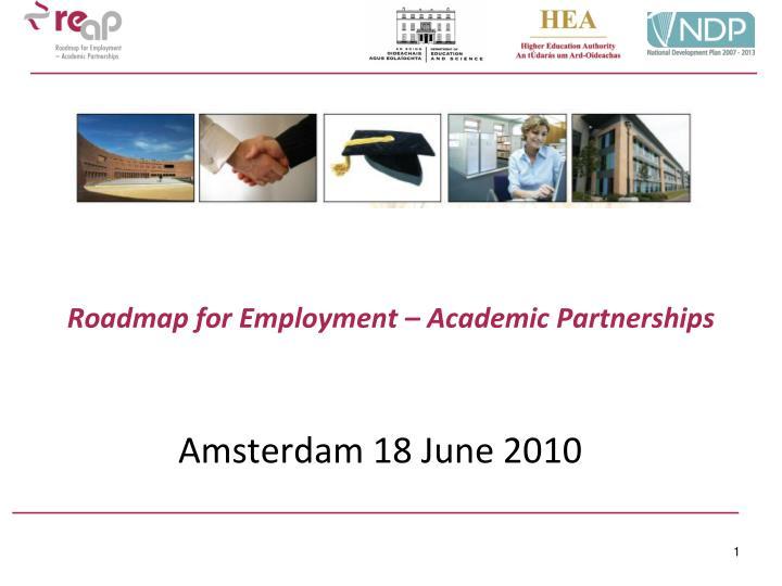roadmap for employment academic partnerships n.