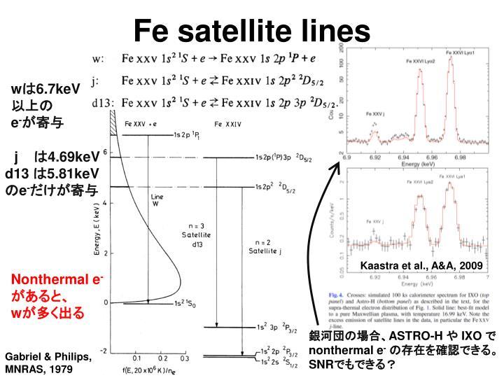 Fe satellite lines