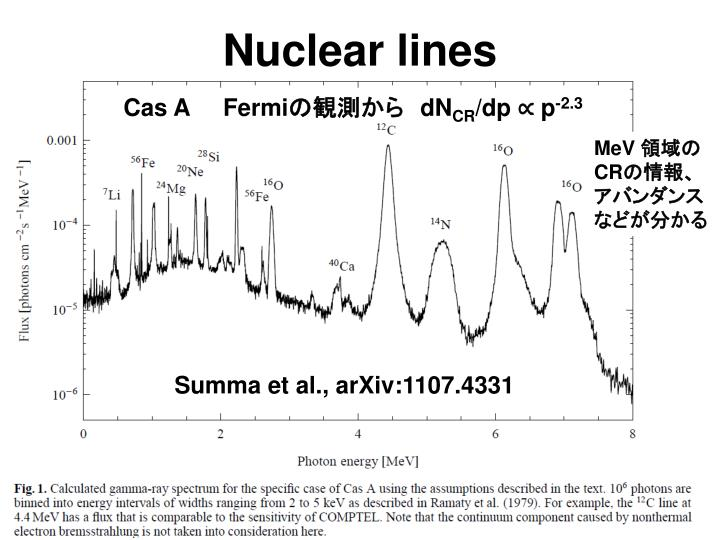 Nuclear lines