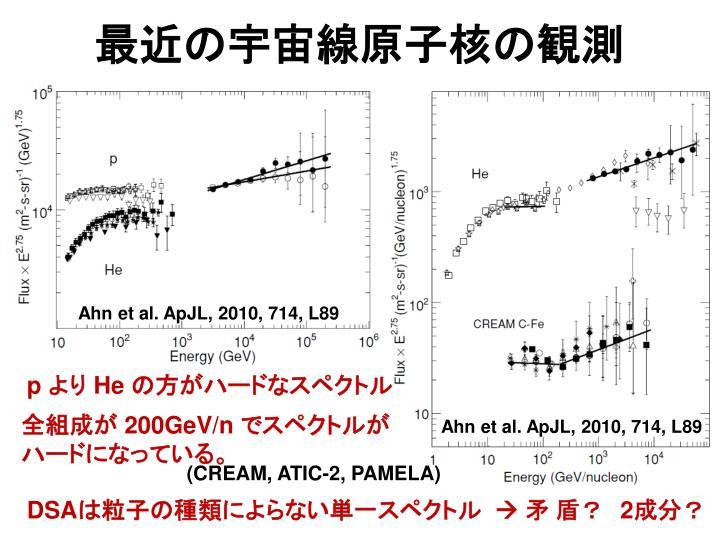 最近の宇宙線原子核の観測