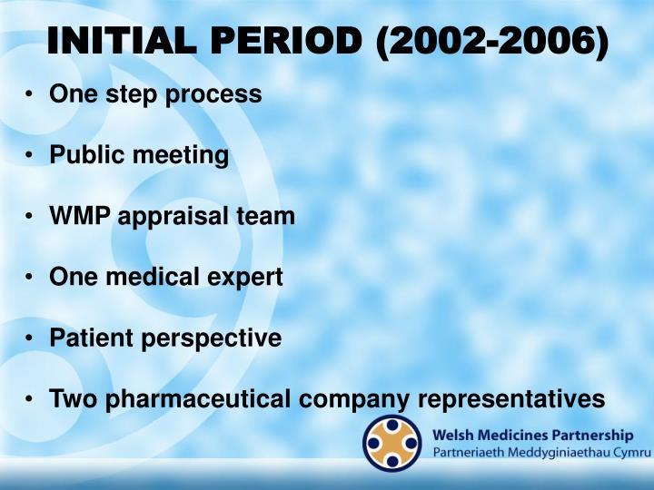 INITIAL PERIOD (2002-2006)