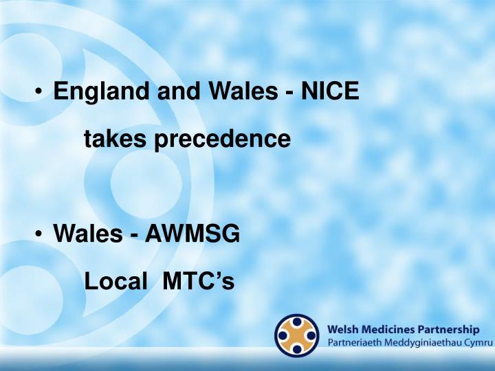 England and Wales - NICE