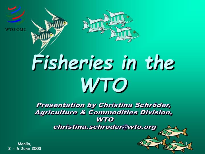 fisheries in the wto n.