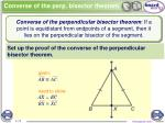 converse of the perp bisector theorem