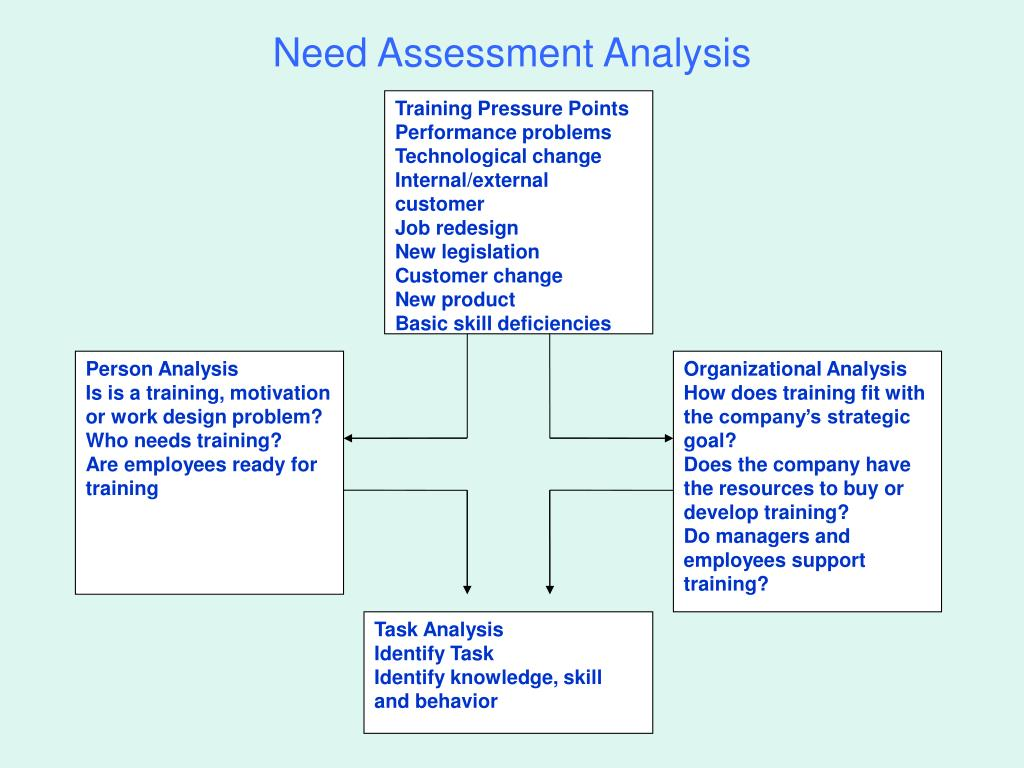 need assessment analysis n.