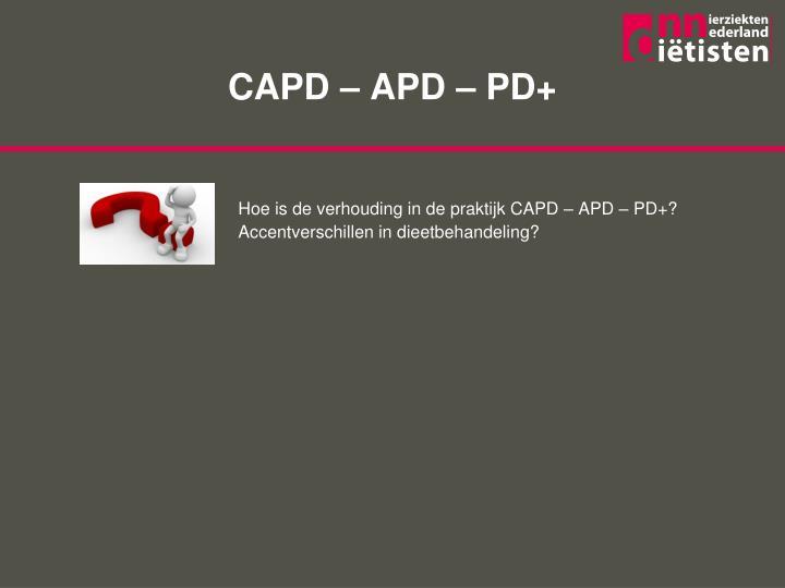 CAPD – APD – PD+