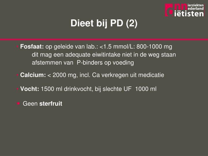 Dieet bij PD (2)