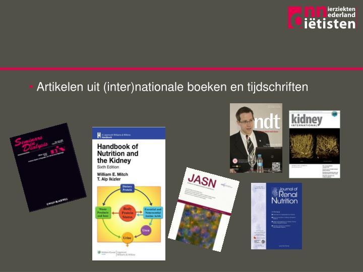Artikelen uit (inter)nationale boeken en tijdschriften