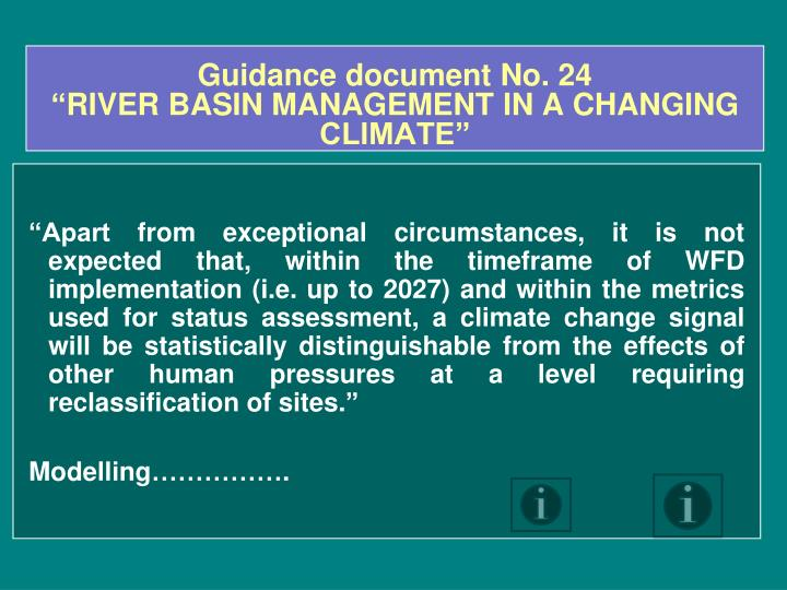 Guidance document No. 24