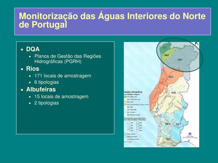 Monitorização das Águas Interiores do Norte de Portugal
