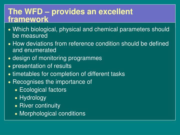 The WFD –