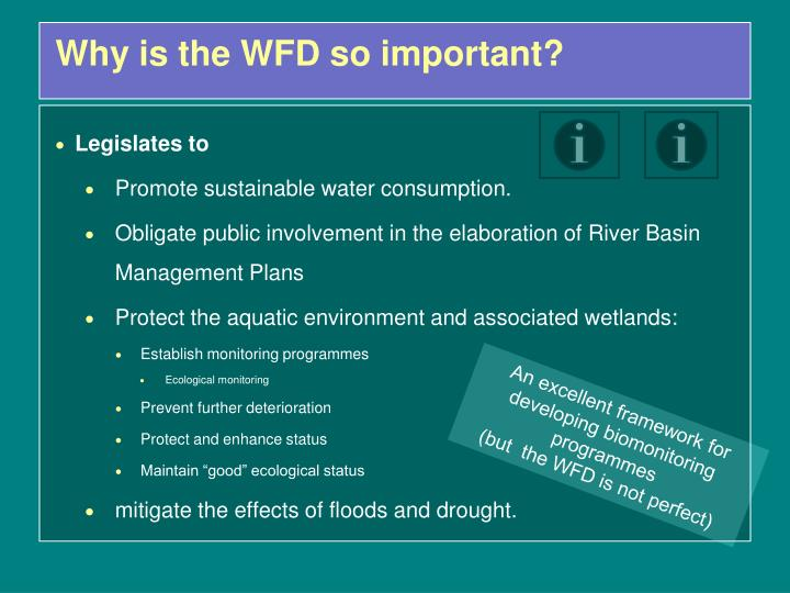 Why is the WFD so important?