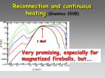 reconnection and continuous heating giannios 2008