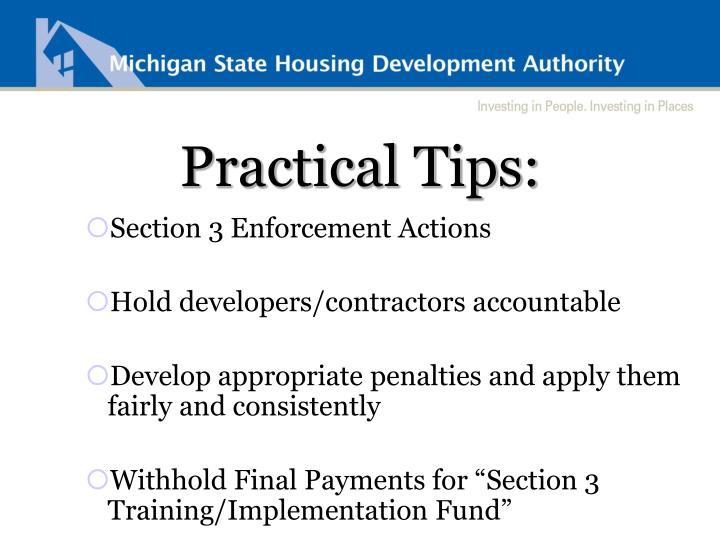 Practical Tips: