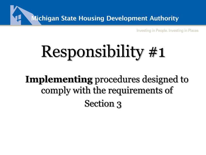 Responsibility #1