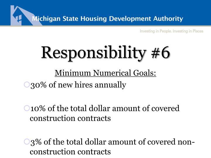 Responsibility #6