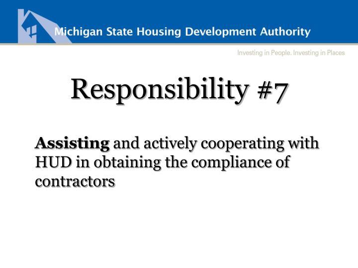 Responsibility #7