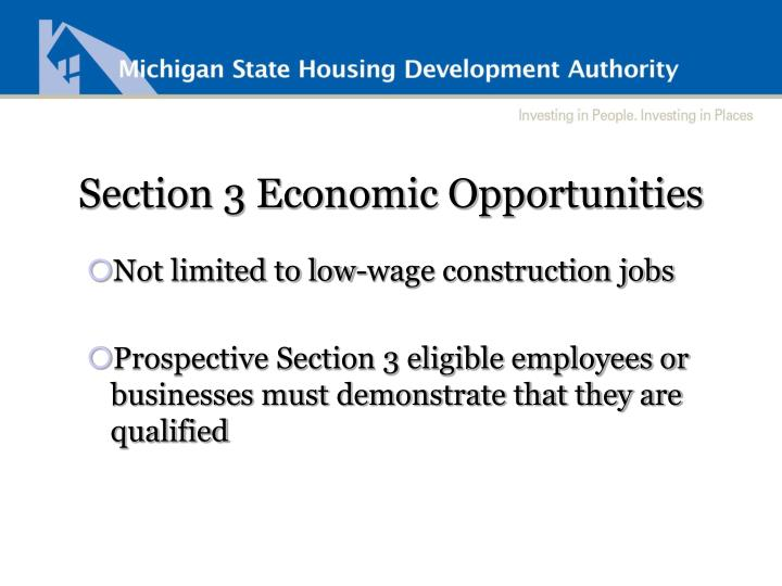 Section 3 Economic Opportunities