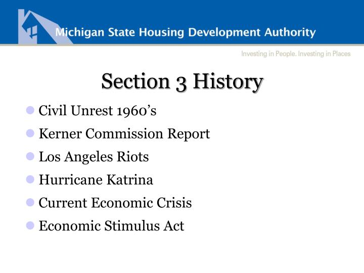 Section 3 History