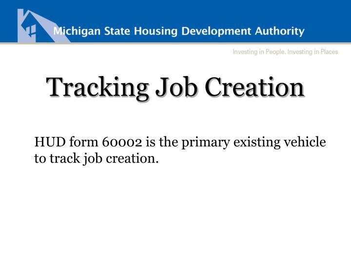 Tracking Job Creation