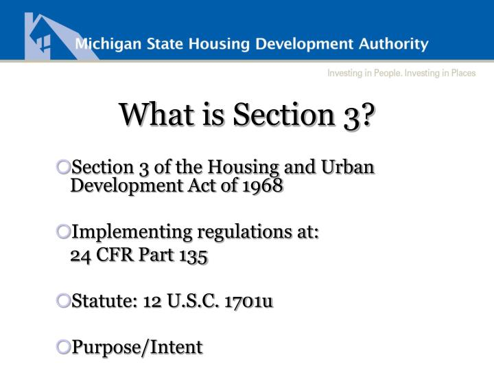 What is Section 3?