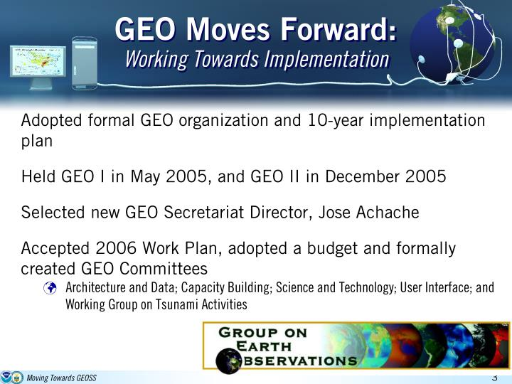 Geo moves forward working towards implementation