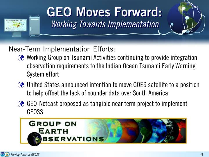 GEO Moves Forward: