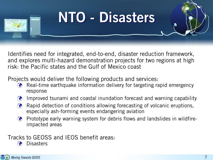 NTO - Disasters
