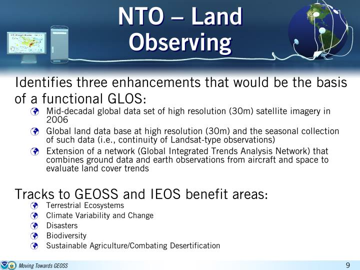 NTO – Land Observing