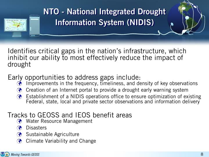 NTO - National Integrated Drought Information System (NIDIS)