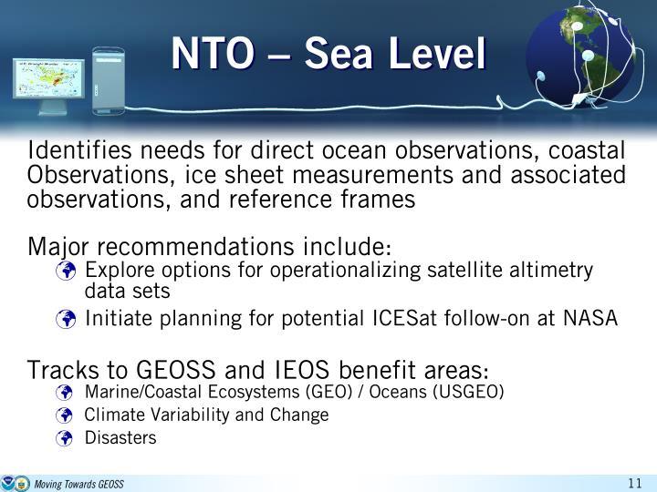 NTO – Sea Level