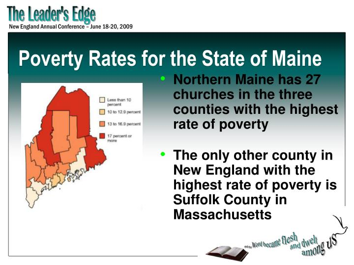 Poverty Rates for the State of Maine