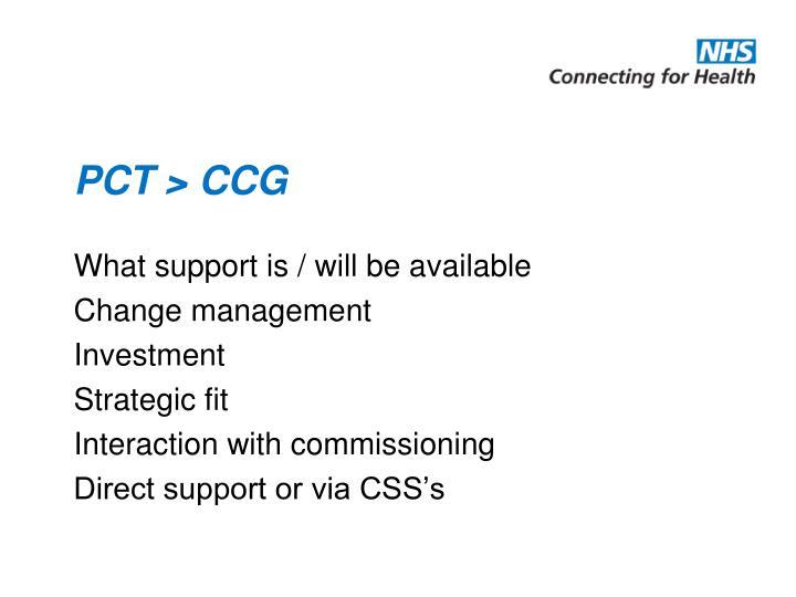 PCT > CCG